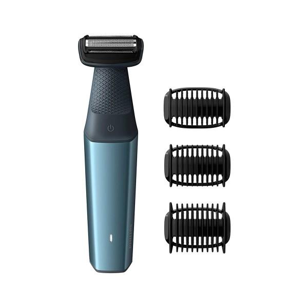 Philips bg3015/15 afeitadora corporal bodygroom series 3000 apta para la ducha con 3 peines-guía