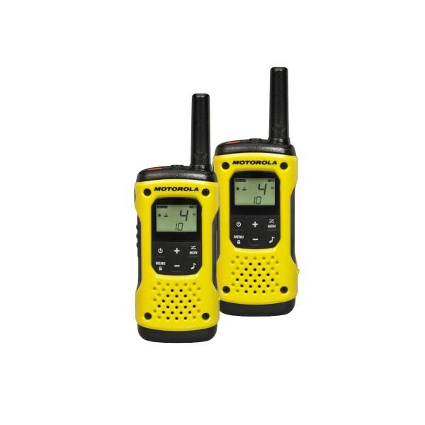 Motorola tlkr t92h20 amarillo pareja walkie talkies resistente al agua 10km de alcance