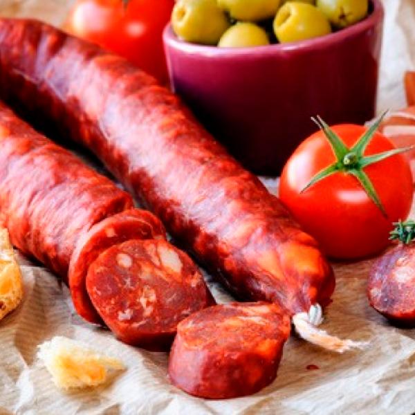 Chorizo sarta picante producción ecológica (vacío 320 gr. aprox.)