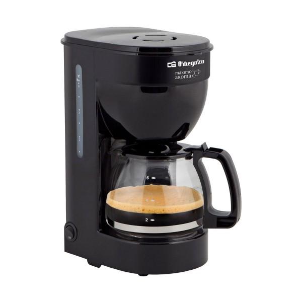 Orbegozo cg4014 negra cafetera de goteo 6 tazas filtro permanente extraíble